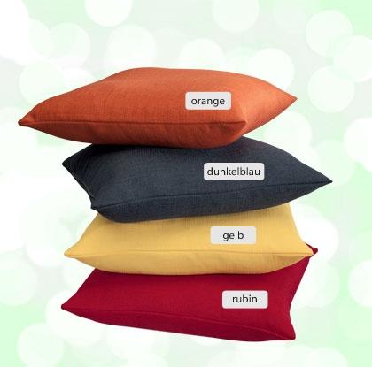 m i g home zierkissen uni in 12 farben wohnaccessoire shop. Black Bedroom Furniture Sets. Home Design Ideas