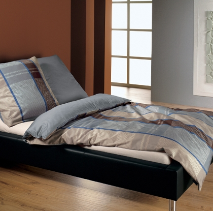 bugatti bettw sche blau beige duvet 160x210cm bugatti shop. Black Bedroom Furniture Sets. Home Design Ideas
